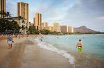 Waikiki Beach and Diamond Head, Honolulu, Hawaii