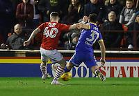 Barnsley v Leeds..EFL Championship 21.1.17 .... barnsley ryan kent scores his sides second