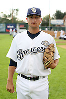 August 12, 2009:  Ryan Platt of the Helena Brewers. The Helena Brewers are the Pioneer League affiliate of the Milwaukee Brewers. Photo by: Chris Proctor/Four Seam Images