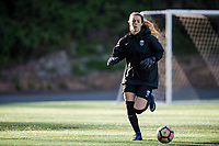 Seattle, WA - April 15th, 2017: Madalyn Schiffel warms up prior to a regular season National Women's Soccer League (NWSL) match between the Seattle Reign FC and Sky Blue FC at Memorial Stadium.