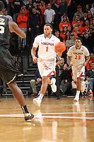 Virginia guard Justin Anderson (1) handles the ball during the game against Wake Forest Wednesday Jan. 08, 2014 in Charlottesville, Va. Virginia defeated Wake Forest 74-51.