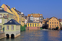 France,Alsace,Europe,Departement 67,Bas-Rhin,Strasbourg,Ill River,Houses