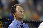 06 September 2013: UNC head coach Anson Dorrance. The University of North Carolina Tar Heels played the University of California Los Angeles Bruins at Koskinen Stadium in Durham, NC in a 2013 NCAA Division I Women's Soccer match. UNC won the game 1-0.