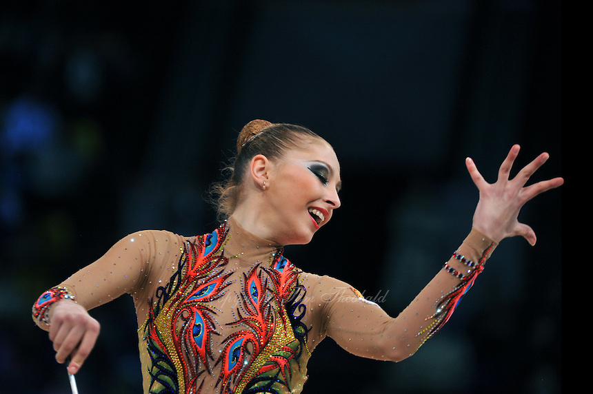 "DARIA KONDAKOVA of Russia performs in Event Finals at 2011 World Cup Kiev, ""Deriugina Cup"" in Kiev, Ukraine on May 8, 2011."