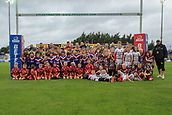 7th September 2017, Beaumont Legal Stadium, Wakefield, England; Betfred Super League, Super 8s; Wakefield Trinity versus St Helens; young rugby players from the local community gather for a group photo after playing just before kick off