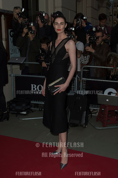 Erin O'Conner at the 2015 GQ Men of the Year Awards at the Royal Opera House, Covent Garden, London.<br /> September 8, 2015  London, UK<br /> Picture: Dave Norton / Featureflash