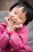 Young girl in Xian. China has a one child family planning policy to reduce population.