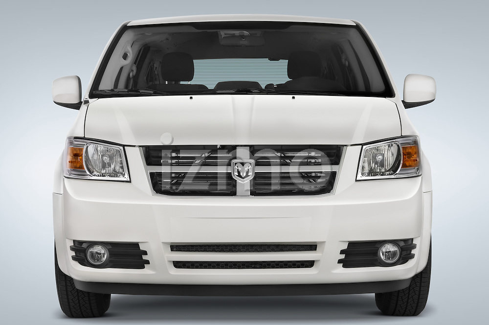 Straight front view of a 2008 Dodge Caravan