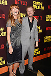 HOLLYWOOD, CA - APRIL 06:  Actors Jane Seymour (L) and David Spade attend the premiere of Netflix's 'Sandy Wexler' at the ArcLight Cinemas Cinerama Dome on April 6, 2017 in Hollywood, California.