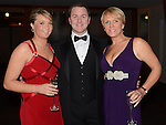Aoife Maguire, Brian Cassidy and Gill Rafter pictured at the Fingal Harriers Hunt Ball held in the d hotel Drogheda. Photo:Colin Bell/pressphotos.ie