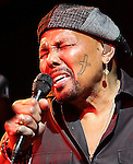 "March 30, 2011 New York: Singer / Songwriter Aaron Neville performs at BB King""s Bar and Grill on March 30, 2011 in New York."
