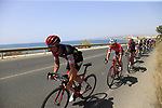 The peloton including Nicolas Roche (IRL) BMC Racing Team in full flight after the start of Stage 4 of the La Vuelta 2018, running 162km from Velez-Malaga to Alfacar, Sierra de la Alfaguara, Andalucia, Spain. 28th August 2018.<br /> Picture: Eoin Clarke   Cyclefile<br /> <br /> <br /> All photos usage must carry mandatory copyright credit (&copy; Cyclefile   Eoin Clarke)