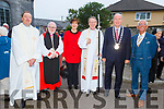 Celebrating the St John's Church Ashe Street, Harvest Thanksgiving & Bicentenary Celebrations.<br />  L to r: Rev Jim Stevens, Bishop Richard Clarke (Archbishop of Armagh and Primate of All Ireland), Cllr Norma Foley, Bishop Kenneth Kearon (Bishop of Limerick, Killaloe and Ardfert), Cllr Jim Finuvane )Mayor of Tralee) and Cllr Sam Locke.