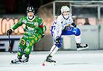 Stockholm 2014-12-02 Bandy Elitserien Hammarby IF - IFK V&auml;nersborg :  <br /> V&auml;nersborgs Alexander Zitouni i kamp om bollen med Hammarbys Stefan Erixon under matchen mellan Hammarby IF och IFK V&auml;nersborg <br /> (Foto: Kenta J&ouml;nsson) Nyckelord:  Elitserien Bandy Zinkensdamms IP Zinkensdamm Zinken Hammarby Bajen HIF IFK V&auml;nersborg