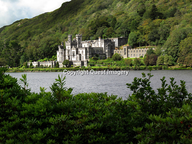 Kylemore Abbey is a Benedictine monastery founded in 1920 on the grounds of Kylemore Castle, in Connemara, County Galway, Ireland. The abbey was founded for Benedictine Nuns who fled Belgium in World War I.<br /> Photo by Mike Rynearson/Quest Imagery