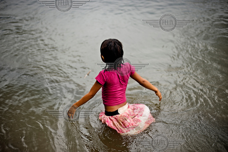 The entire family are involved in fishing trips and whilst the head of the household washes the barbasco roots in the river, every set of hands are then employed in collecting the asphyxiated fish in buckets, t-shirts and baskets.