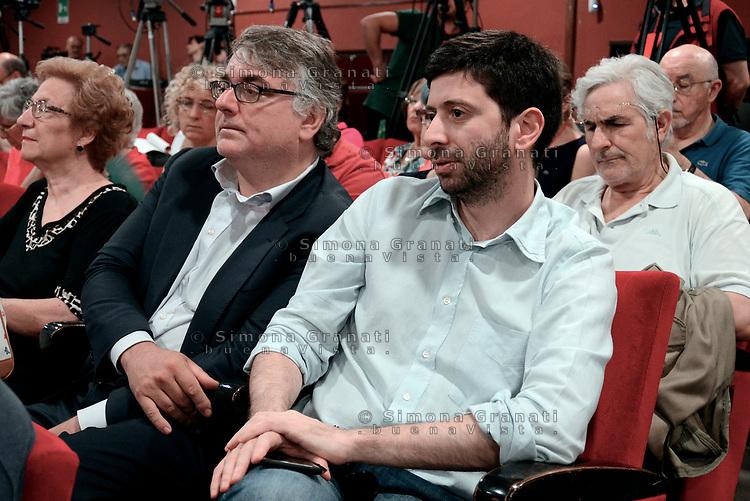 Roma, 18 Giugno 2017<br /> Miguel Gotor e Roberto Speranza<br /> Assemblea al Teatro Brancaccio per costruire un'alleanza popolare per la Democrazia e l'Uguaglianza, una Alternativa a Sinistra del Partito Democratico.