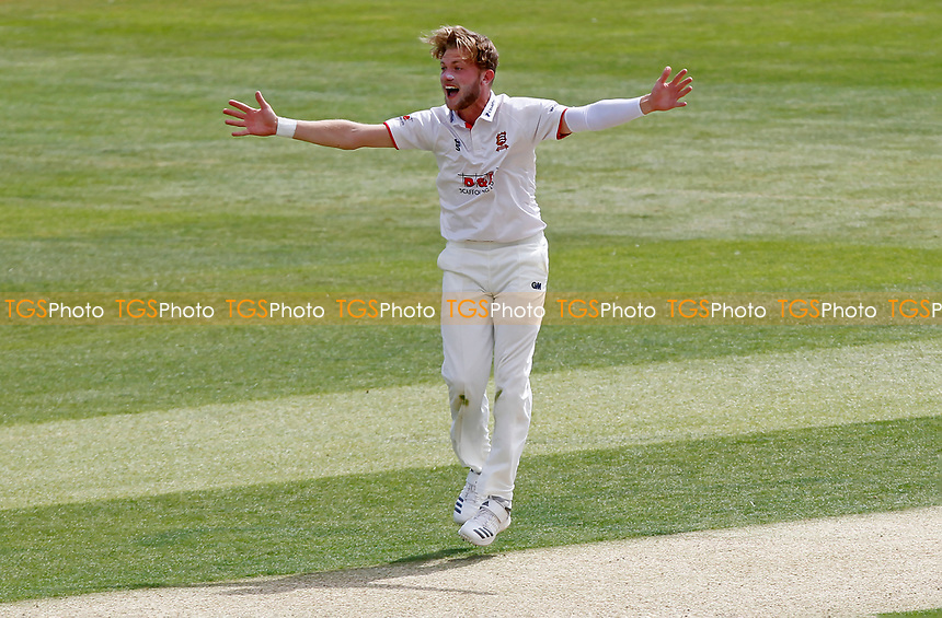 Sam Cook of Essex appeals for a wicket off his own bowling during Essex CCC vs Kent CCC, Bob Willis Trophy Cricket at The Cloudfm County Ground on 1st August 2020