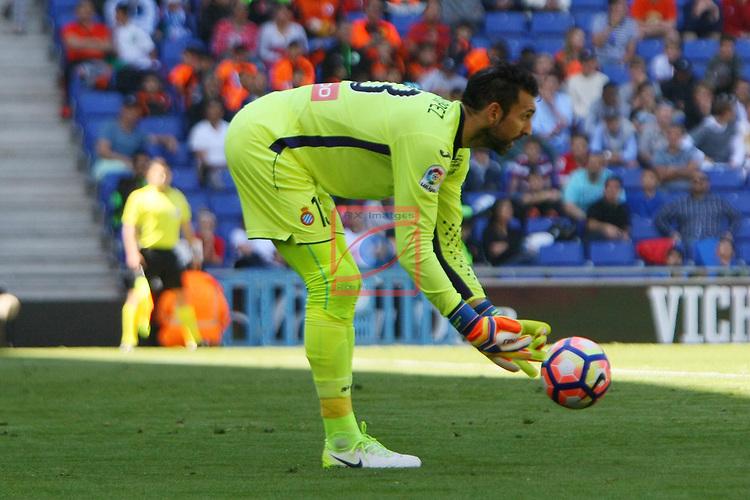 League Santander 2016/2017. Game: 31.<br /> RCD Espanyol vs Deportivo Alaves: 1-0.<br /> Diego Lopez.