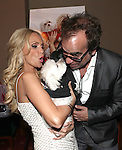 "Kristin Chenoweth with her dog Madeline Kahn ""Maddie"" Chenoweth with Richard Jay Alexander.attending the after performance reception for.Kristin Chenoweth World Tour directed by Richard Jay Alexander at City Center in New York City on 6/02/2012"