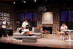 """As The World Turns' Colleen Zenk stars along with the cast - Brenda Withers, Davy Raphaely and Malachy Cleary in """"Other Desert Cities"""" at the tech rehearsal (in costume) on October 14, 2015 at Whippoorwill Halll Theatre, North Castle Library, Kent Place, Armonk, New York.  (Photo by Sue Coflin/Max Photos)"""