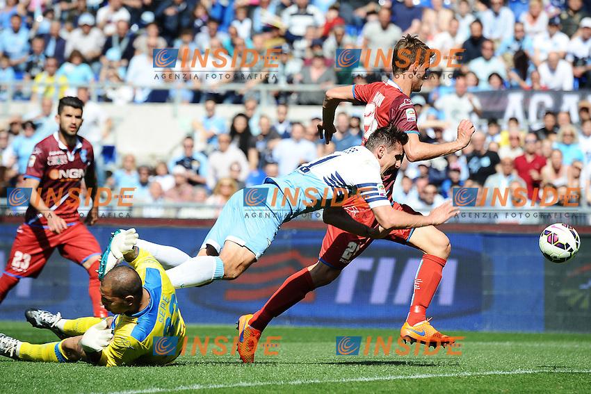 Luigi Sepe Empoli, Miroslav Klose Lazio <br /> Roma 12-04-2015 Stadio Olimpico, Football Calcio Serie A Lazio - Empoli. Foto Andrea Staccioli / Insidefoto