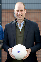 Prince William Duke Of Cambridge visits Everton Football Club