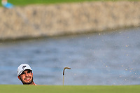 Shubhankar Sharma (IND) on the 3rd during the 1st round of  the Saudi International powered by Softbank Investment Advisers, Royal Greens G&CC, King Abdullah Economic City,  Saudi Arabia. 30/01/2020<br /> Picture: Golffile | Fran Caffrey<br /> <br /> <br /> All photo usage must carry mandatory copyright credit (© Golffile | Fran Caffrey)