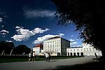 Tourists walk in the gardens of Nymphenburg palace in Munich, Germany, August 04, 2008. (ALTERPHOTOS/Alvaro Hernandez)
