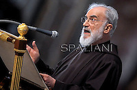 Padre Raniero Cantalamessa,Pope Benedict XVI the ceremony of the Good Friday Passion of the Lord Mass in Saint Peter's Basilica at the Vatican ..April 6, 2012.