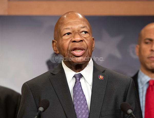 United States Representative Elijah Cummings (Democrat of Maryland) makes remarks at a press conference in the US Capitol in Washington, DC announcing a Democratic package of three bills to be introduced in the US Senate and US House to control prescription drug prices on Thursday, January 10, 2019.<br /> Credit: Ron Sachs / CNP /MediaPunch