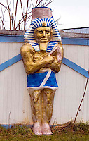 King Tut Sculpture at the Enchanted Castle Studio in Natural Bridge Virginia