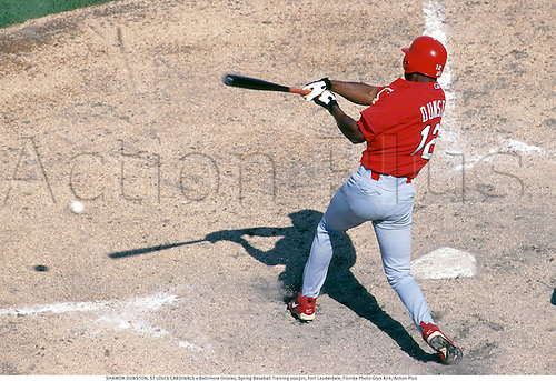 SHAWON DUNSTON, ST LOUIS CARDINALS v Baltimore Orioles, Spring Baseball Training 000321, Fort Lauderdale, Florida Photo:Glyn Kirk/Action Plus...2000.Hitter.