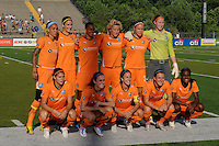 Sky Blue FC starting eleven. The Philadelphia Independence defeated Sky Blue FC 2-1 during a Women's Professional Soccer (WPS) match at John A. Farrell Stadium in West Chester, PA, on June 6, 2010.