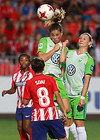 Atletico de Madrid's Ludmila Da Silva (l) and Sonia Bermudez (c-l) and VfL Wolfsburg's Carolina Graham Hansen (c-r) and Alexandra Popp during UEFA Womens Champions League 2017/2018, 1/16 Final, 1st match. October 4,2017. (ALTERPHOTOS/Acero) /NortePhoto.com /NortePhoto.com