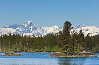 Mount Gilbert of the Chugach mountains from Culross Passage, Prince William Sound, Alaska