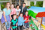 The pupils from Kilgarvan NS paint the finishing touch to the mural have made foe the village Front row l-r: Niamh O'Sullivan, Kelly Twomey, Mary Ellen McCarthy. Back row: Kathy Cronin, Amy O'Riordan, Mia Gadsen, Sean Kelly MEP.
