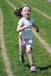 Meabh Fee from Blackrock running in the girls under 8 eighty meter event at the Louth Community Games Athletics Finals held at meadowview. Photo: Colin Bell/pressphotos.ie