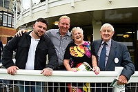 Happy Owners celebrate a win during Afternoon Racing at Salisbury Racecourse on 7th August 2017