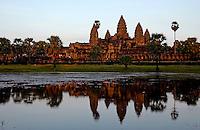 Sunset at Angkor Wat, Siam Reap Cambodia
