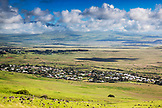 USA, Hawaii, The Big Island landscape overlooking the town of Waimea