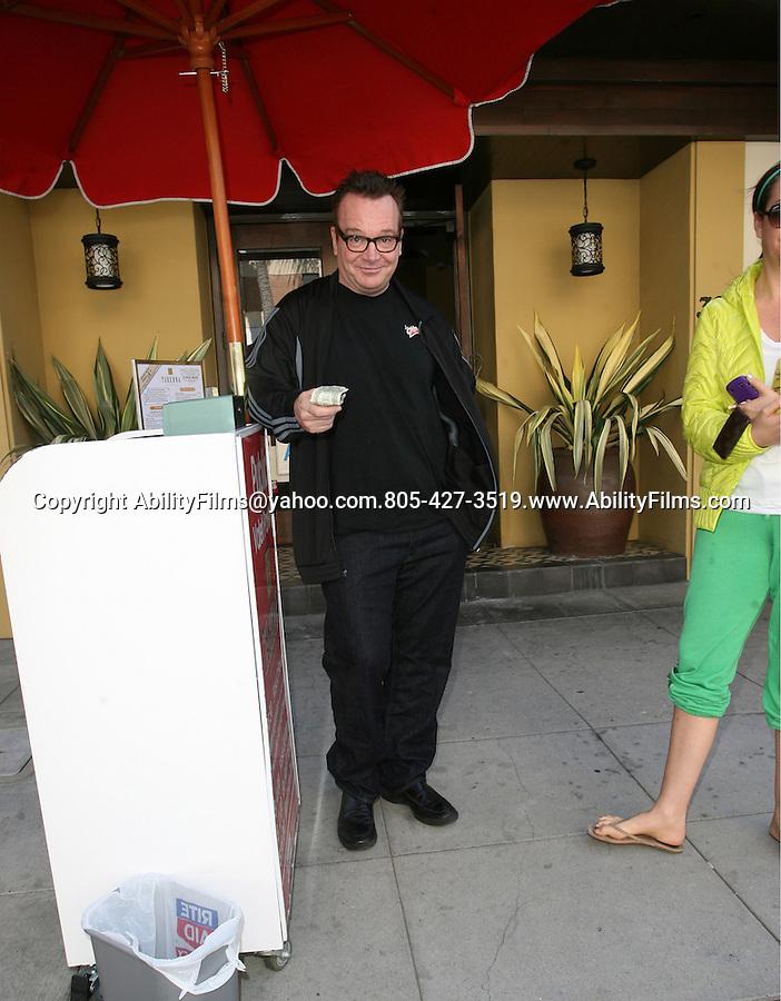 March 20th 2012 ...Tom Arnold & wife Ashley Groussman had lunch in Beverly Hills, CA...AbilityFilms@yahoo.com.805-427-3519.www.AbilityFilms.com.