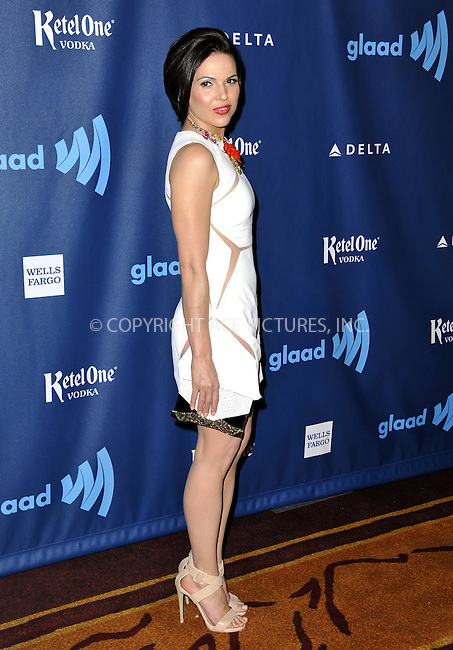 WWW.ACEPIXS.COM......April 20, 2013, Los Angeles, CA.....Lana Parrilla arriving at the 24th Annual GLAAD Media Awards held at the JW Marriott Los Angeles at L.A. LIVE on April 20, 2013 in Los Angeles, California. ..........By Line: Peter West/ACE Pictures....ACE Pictures, Inc..Tel: 646 769 0430..Email: info@acepixs.com