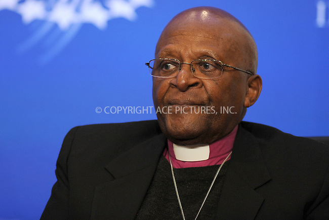 WWW.ACEPIXS.COM . . . . . .September 20, 2011...New York City...Desmond Tutu speaks at the Clinton Global Initiative on Sept. 20, 2011 New York City.......Please byline: KRISTIN CALLAHAN - ACEPIXS.COM.. . . . . . ..Ace Pictures, Inc: ..tel: (212) 243 8787 or (646) 769 0430..e-mail: info@acepixs.com..web: http://www.acepixs.com .