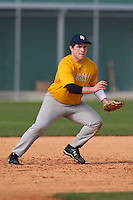 December 28, 2009:  Matt Reader (13) of the Baseball Factory Shockers team during the Pirate City Baseball Camp & Tournament at Pirate City in Bradenton, FL.  Photo By Mike Janes/Four Seam Images