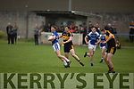 Barry John Keane of Kerins O'Rahillys been well marshalled by Daithi Casey of Dr Crokes in the last round game of the Senior Club Championship in Strand Road on Saturday evening.