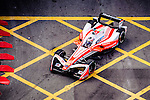 Felix Rosenqvist of Mahindra Racing team during the first stop of the FIA Formula E Championship HKT Hong Kong ePrix at the Central Harbourfront Circuit on 9 October 2016, in Hong Kong, China. Photo by Marcio Rodrigo Machado / Power Sport Images