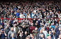 Bolton Wanderers Fans Celebrate as Bolton Wanderers' Craig Noone scores there sides second goal<br /> <br /> Photographer Rachel Holborn/CameraSport<br /> <br /> The EFL Sky Bet Championship - Barnsley v Bolton Wanderers - Saturday 14th April 2018 - Oakwell - Barnsley<br /> <br /> World Copyright &copy; 2018 CameraSport. All rights reserved. 43 Linden Ave. Countesthorpe. Leicester. England. LE8 5PG - Tel: +44 (0) 116 277 4147 - admin@camerasport.com - www.camerasport.com