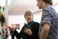 National Portrait Gallery, London.  Sarah Scanlon, Lip interpreter, & Mark Woodhead, Tour Guide