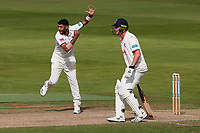 Jeetan Patel in bowling action for Warwickshire during Warwickshire CCC vs Essex CCC, Specsavers County Championship Division 1 Cricket at Edgbaston Stadium on 12th September 2019